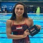 أول تعليق من فريدة عثمان بعد إحرازها أول ميدالية مصرية في بطولات العالم للسباحة