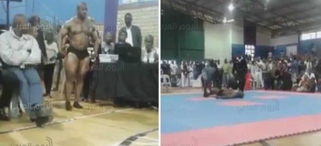 بالفيديو.. وفاة لاعب كمال أجسام أثناء استعراض على الهواء