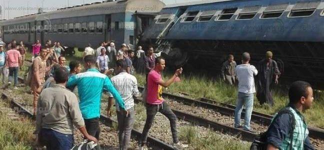 بالصور.. 30 قتيلًا و100 مصابًا في حادث تصادم قطارين بالإسكندرية