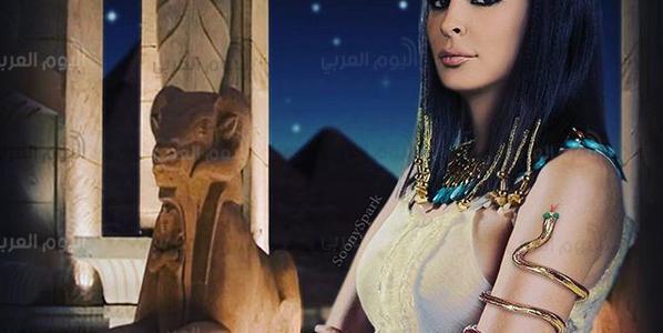 """""""اليسا""""ملكة فرعونية بالزي المصرى القديم ..فما السبب؟"""