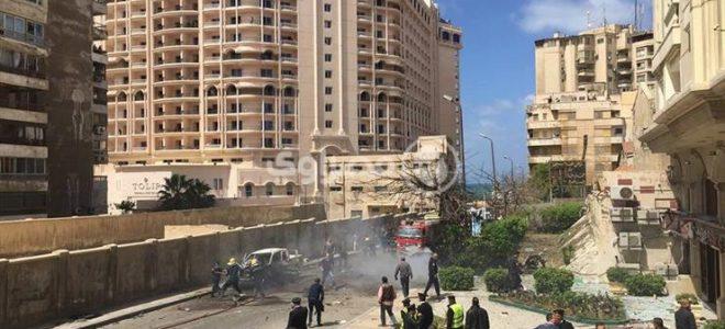 ارتفاع ضحايا انفجار الاسكندرية الارهابى بالصور
