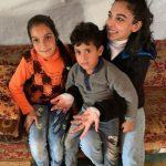 بالصور : سلمى ابو ضيف فى مخيم اللاجئين السوريين