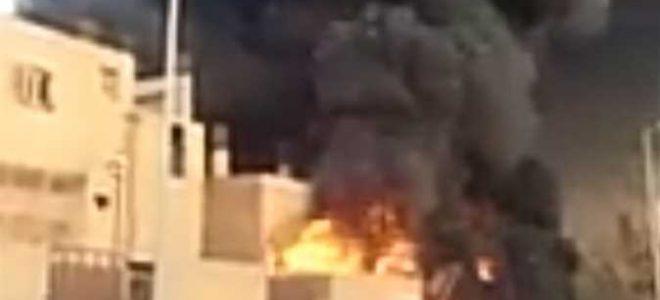 حريق مروع فى أحد المصانع  أسفر عن مصرع 3 عمال حرقا بالنيران